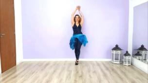 Vídeo demonstrativo dança do ventre #3 azul